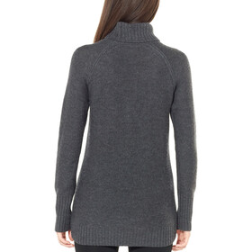 Icebreaker Waypoint Roll Neck Sweater Women Charcoal Heather